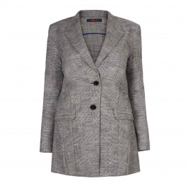 SALLIE SAHNE PRINCE OF WALES CHECK JACKET - Plus Size Collection