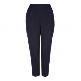 Sallie Sahne NAVY PINSTRIPE TROUSERS - Plus Size Collection