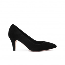 Sargossa classic court black suede SHOES - Plus Size Collection