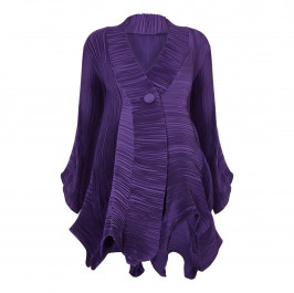 MASHIAH PURPLE STRUCTURED COAT - Plus Size Collection