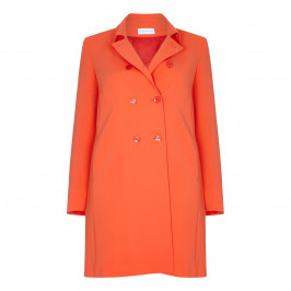 SALLIE SAHNE DOUBLE-BREASTED LINED COAT WITH COLLAR