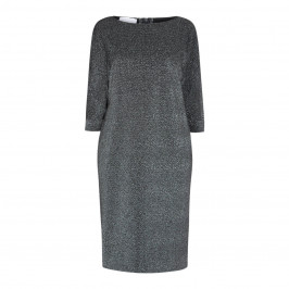 SALLIE SAHNE LUREX DRESS SILVER - Plus Size Collection