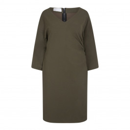 SALLIE SAHNE V-NECK DRESS OLIVE - Plus Size Collection