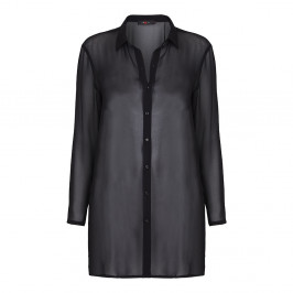 Sallie Sahne black chiffon DUSTER - Plus Size Collection
