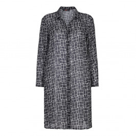 Sallie Sahne lines print DUSTER - Plus Size Collection