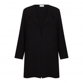 SALLIE SAHNE UNSTRUCTURED WATERFALL JACKET BLACK  - Plus Size Collection