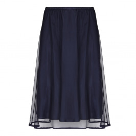 Sallie Sahne navy tulle SKIRT - Plus Size Collection