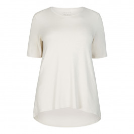 SALLIE SAHNE DIPPED HEM T-SHIRT CREAM - Plus Size Collection