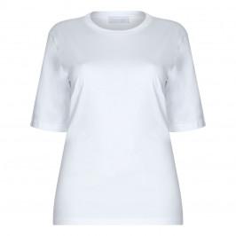 SALLIE SAHNE 100% COTTON CLASSIC WHITE T-SHIRT - Plus Size Collection
