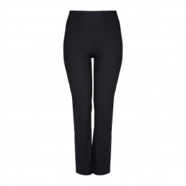 Sallie Sahne STRETCH BLACK STRAIGHT LEG TROUSERS - Plus Size Collection