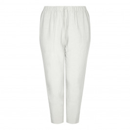 SALLIE SAHNE LINEN PULL ON ANKLE GRAZER TROUSER - Plus Size Collection