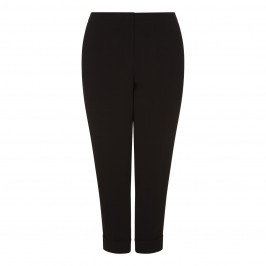 SALLIE SAHNE BLACK ANKLE GRAZER TROUSERS - Plus Size Collection