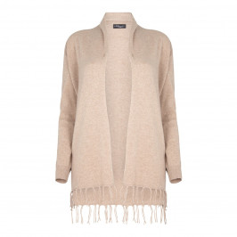 Sandra Portelli cashmere LONG fringed CARDIGAN - Plus Size Collection