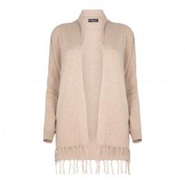 Sandra Portelli cashmere LONG fringed CARDIGAN - Plus Size Collection