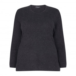 SANDRA PORTELLI CHARCOAL CASHMERE SWEATER - Plus Size Collection