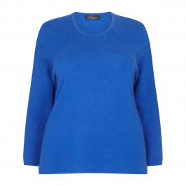 SANDRA PORTELLI ROYAL BLUE CASHMERE SWEATER - Plus Size Collection