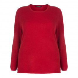 SANDRA PORTELLI RED PURE CASHMERE SWEATER - Plus Size Collection