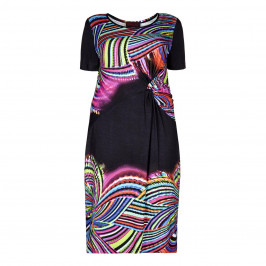 SEMPRE PIU knot detail DRESS - Plus Size Collection