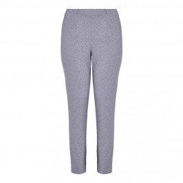 SEMPRE PIU GREY MELANGE PUNTO MILANO TROUSERS - Plus Size Collection