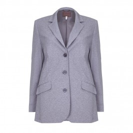 SEMPRE PIU MELANGE GREY PUNTO MILANO BLAZER - Plus Size Collection