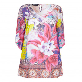 BEIGE LABEL TROPICAL PRINT KAFTAN - Plus Size Collection