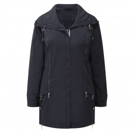 Sempre Piu Navy Raincoat - Plus Size Collection