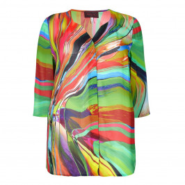 SEMPRE PIU multi georgette SHIRT - Plus Size Collection