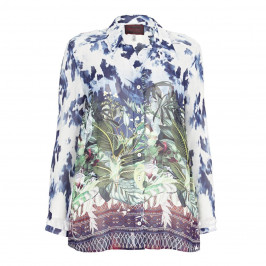 SEMPRE PIU botanical print SHIRT - Plus Size Collection