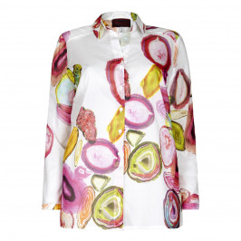 SEMPRE PIU pink print SHIRT - Plus Size Collection