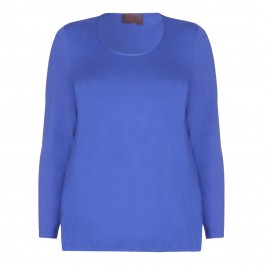 SEMPRE PIU ROYAL BLUE JERSEY TOP - Plus Size Collection