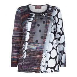 SEMPRE PIU MULTICOLOUR ABSTRACT PRINT TOP - Plus Size Collection