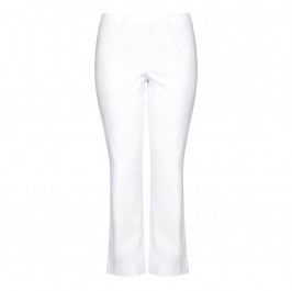 SEMPRE PIU WHITE STRAIGHT LEG TROUSERS - Plus Size Collection