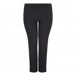 SEMPRE PIU BLACK STRAIGHT LEG TROUSERS - Plus Size Collection