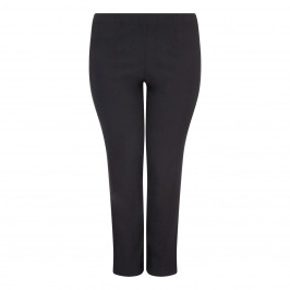 SEMPRE PIU BLACK STRAIGHT LEG TROUSERS - Plus Size Collection