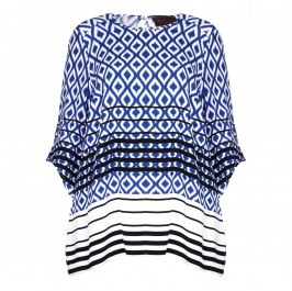 SEMPRE PIU ethnic and stripes print Tunic - Plus Size Collection