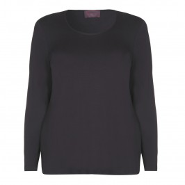 SEMPRE PIU CHARCOAL JERSEY TOP - Plus Size Collection