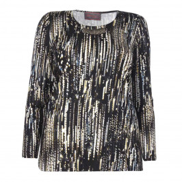 SEMPRE PIU PRINTED JERSEY TUNIC WITH EMBELLISHMENT - Plus Size Collection