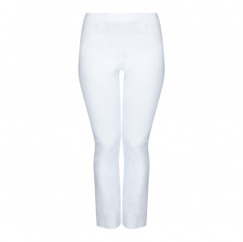 SEMPRE PIU WHITE STRAIGHT LEG TROUSERS  - Plus Size Collection