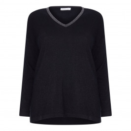 LUISA VIOLA GLITTER SWEATER WITH CASHMERE - Plus Size Collection