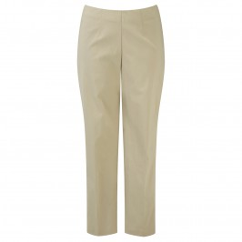 VERPASS STONE BEIGE SLIM LEG TROUSERS - Plus Size Collection