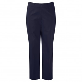 VERPASS NAVY SLIM LEG TROUSERS - Plus Size Collection
