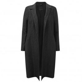 MARINA RINALDI BLACK BROCADE COAT - Plus Size Collection