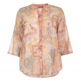 THAT'S ME PURE COTTON ORANGE PAISLEY PATCHWORK SHIRT  - Plus Size Collection