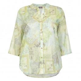 THAT'S ME PURE COTTON GREEN PAISLEY PATCHWORK SHIRT  - Plus Size Collection