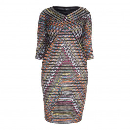 TIA BODYCON PRINT DRESS - Plus Size Collection