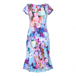 TIA FLORAL PRINT RUFFLE HEM DRESS - Plus Size Collection