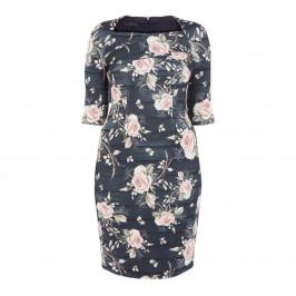 TIA BODYCON LUREX ROSE WRAP DRESS - Plus Size Collection