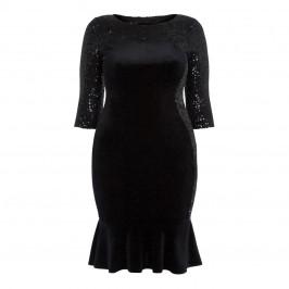 TIA BLACK SEQUIN DRESS - Plus Size Collection