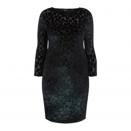 TIA BODYCON SHIFT DRESS TEAL - Plus Size Collection