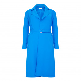 TIA DUSTER COAT WITH REVERE COLLAR AND BELT - Plus Size Collection